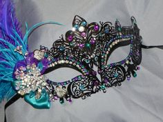 Black Purple Turquoise and Silver Metallic by TheCraftyChemist07