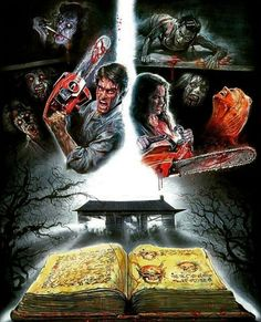 Evil Dead Movies, Scary Movies, Horror Icons, Horror Films, Ash Evil Dead, Horror Artwork, Horror Monsters, Classic Horror Movies, Halloween Horror