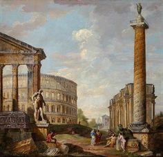 View of Roman Ruins. Giovanni Paolo Panini. Italian. 1691-1765. http://hadrian6.tumblr.com