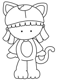 Too cute to spook! Coloring Pages For Girls, Coloring Book Pages, Coloring Sheets, Strawberry Shortcake Coloring Pages, Hand Embroidery, Embroidery Patterns, Colorful Drawings, Digi Stamps, Felt Dolls