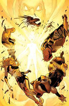 "astonishingx: ""Guardians of the Galaxy vs the Phoenix by Sara Pichelli """