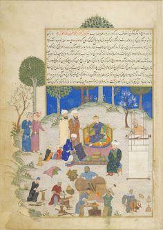 پادشاهی جمشید حدیث پادشاهی جمشید و احوال او و از پس او جمشید بود و گروهی گویند برادر طهمورث بود و گروهی گویند خویش او بود و نخستین کسی که سلاح کرد او بود ۱۴۷۰ ترسایی، آبرنگ، گواش و طلا بر روی کاغذ، کتابخانه ی چستر بیتی ایرلند. The Persian King Jamshid Instructs His People in the Arts and CraftsTabari's Annals 1469-70, Iran Jamshid is the most well-known of all the kings of the Shahnama (The Book of Kings), the Persian national epic that relates the deeds ...