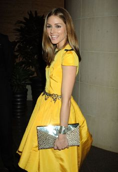 Olivia Palermo. Yellow