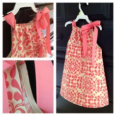 Easy pillowcase dress I made from tutorial