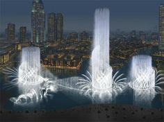 Dubai fountains, United Arab Emirates
