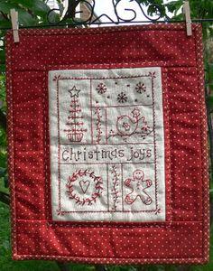Gail Pan Christmas embroidered wall hanging