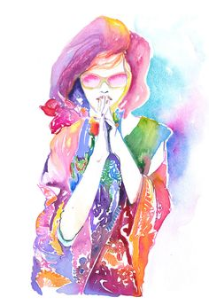 Print of Watercolour Painting Fashion by Cate Parr silverridgestudio on Etsy