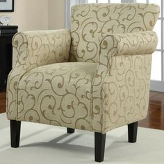 @Overstock - Tiburon Damask Chenille Arm Chair. Add this stylish upholstered chenille arm chair to any space in your home where you are looking to add contemporary comfort. This chair is crafted for a rugged long life with solid wood legs and welt cord detailing on its arms and seat.http://www.overstock.com/Home-Garden/Tiburon-Damask-Chenille-Arm-Chair/6349145/product.html?CID=214117 $249.99