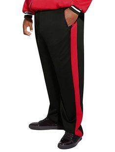 e6947fcbdb MVP Collections Stretch Stripe Track Pants. Big And Tall ...