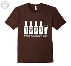 Mens 1971 was a good year 46 Years Old 46 Birthday Gifts T-shirts Medium Brown - Birthday shirts (*Amazon Partner-Link)