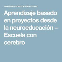 Aprendizaje basado en proyectos desde la neuroeducación – Escuela con cerebro