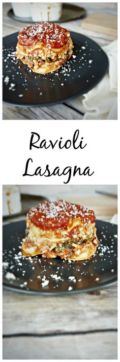 A creative twist on traditional lasagna that features pre-made ravioli, spicy pepperoni, tangy marinara, and a creamy filling made with cottage cheese and fresh spinach, this ravioli lasagna comes together in minutes and will be your family's new favorite way to enjoy pasta!