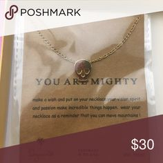 "NIB🎀 Dogeared Necklace🎀 You Are Mighty! Skull Necklace. Gold Plated. 18"". Dogeared Jewelry Necklaces"