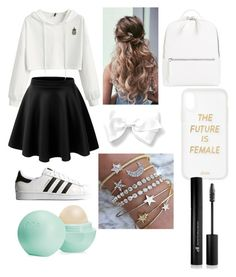 """Untitled #23"" by yadiza-aguirre on Polyvore featuring LE3NO, adidas Originals, Chelsea28, Sonix, Eos and Forever 21"