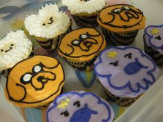 Adventure Time cupcakes for my best friends birthday