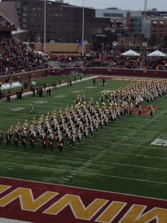 The marching band at the TCF Stadium in Minneapolis, Minnesota Go Gophers!
