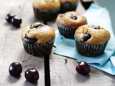 So Good and Tasty: Cherry Almond Meal Muffins