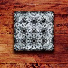 Glass Tile Backsplash Iron Contour Pattern - modern - kitchen tile - portland - by Architectural Art Tile