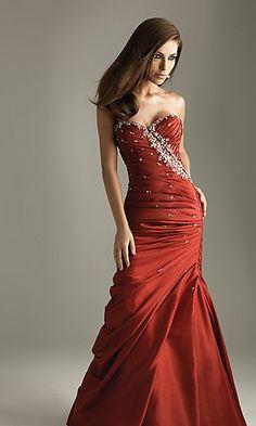 A-Line Satin Sweetheart Long Dress Charm86038