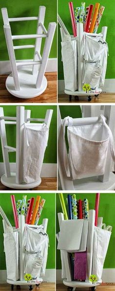 Wrapping Paper Holder | 50 Clever DIY Ways To Organize Your Entire Life