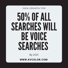 50% of all searches will be voice searches by 2021.