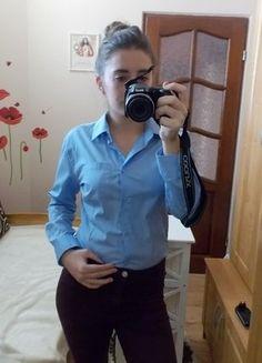 Kup mój przedmiot na #vintedpl http://www.vinted.pl/damska-odziez/koszule/15874091-blekitna-bluzka-biurowa-taliowana-m
