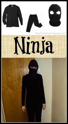 Easy black ninja costume no sewing required pinterest east do you love to search pinterest for amazing diy costumes do you quickly find though solutioingenieria Choice Image