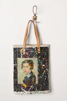 Original Still Life Bag, Paint Splash Portrait #anthropologie