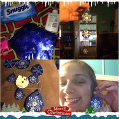 #ContestEntry #CraftyPaws  #FreeSample used a box of snuggle and extra wrapping paper. I cut out the stars and glued them to the snuggle box, then cut out once dried. can use as cheap earrings, ornaments, string them together as garland or a banner type thing to dangle from the edges of your counters/islands, to/from tag for next year (little hint use a different color duct tape on the other side and keep a log of who's tag is what color with the duck tape for those nosey kids lol), and…