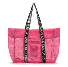 HOLIDAYS!! Pink mesh bag NEON PINK
