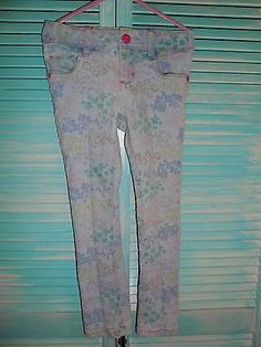 Sonoma Girls Floral Print Jeans Size 5