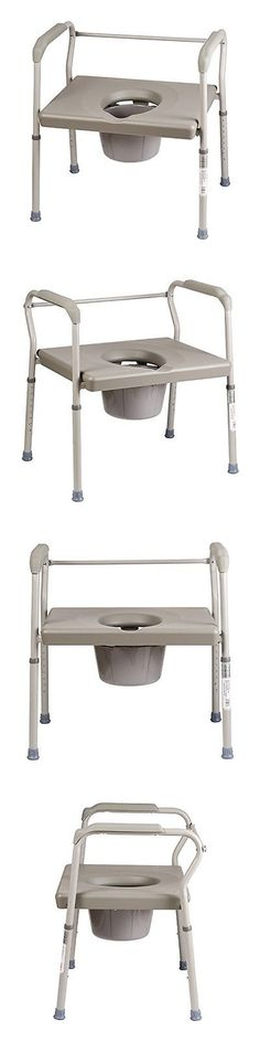 Bidet and Toilet Tissue Aids: Duro-Med Dmi Heavy-Duty Steel Commode With Platform Seat BUY IT NOW ONLY: $147.56