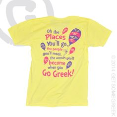 PANHELLENIC LOVE  GETSOMEGREEK!! DR. SEUSS KIND OF RECRUITMENT!! OH THE PLACES YOU GO... GETSOMEGREEK  PANHEL