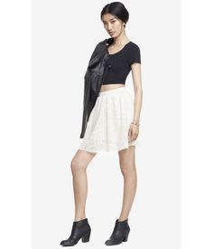 Womens high waist lace full skirt #express #steal #fashion #lastyle