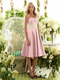 Dessy Pink Bridesmaid Dress