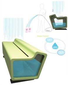 a water storage system that doubles as a bench and helps to conserve water by…