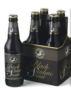Brooklyn Black Chocolate Stout. Huge coffee and chocolate notes around in this imperial stout. And at about 10.5 ABV (alcohol by volume), you'll want to share! Try this with anything chocolate.