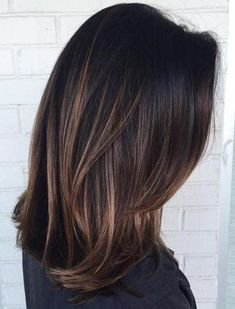 Carmel highlights on dark brown hair #highlights #haircolor