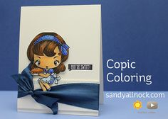Copic coloring hair – The Greeting Farm – Sandy Allnock