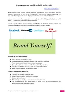 Improve your personal brand with social media - by Liven Varghese