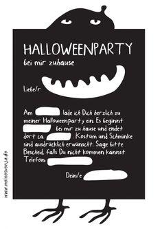 Invitation einladung Geburtstags Halloweendeko