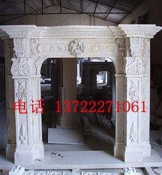 欧式门套定制天然大理石门套线石雕门头雕花高档石材门套定做-淘宝网