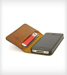 theSLIMbook Leather iPhone Case & Wallet by Red Clouds Collective on Scoutmob Shoppe. Handsome and handmade, this is a super functional piece.