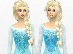 The Sims Resource: Elsa Dress by SakuraPhan • Sims 4 Downloads