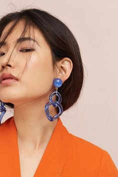 Looped Lucite Clip-On Earrings