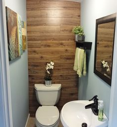 Basement Bathroom Remodeling Improves Your Home's Value! Small Basement Bathroom, Downstairs Bathroom, Bathroom Renos, Bathroom Ideas, Home Renovation, Home Remodeling, Laminate Wall, Laminate Flooring, Small Basements