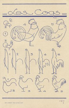 Les Coqs - drawing a rooster Animal Drawings, Sketch Book, Art Drawings, Drawings, Art, Art Tutorials, Drawing Lessons, Bird Art, Chicken Art
