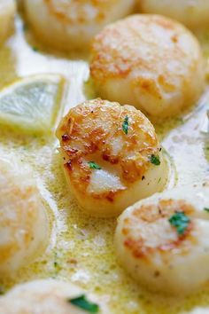 Creamy Garlic Scallops - easiest, creamiest and best scallop recipe ever. Takes only 15 mins, better than restaurants and much cheaper! from /rasamalaysia/
