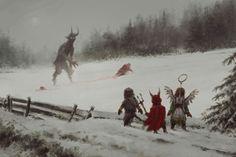 Krampus vs. Santa http://www.simonstalenhag.se