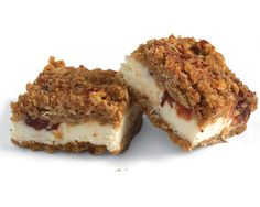 Cranberry Streusel Bars with Cream Cheese Filling